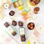 overhead image of assorted chocolates from Lolli and Pops