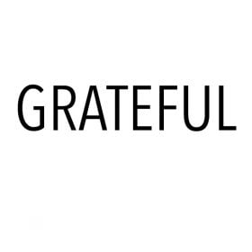"featured image for post - white with black text that says ""grateful"""