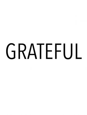 """featured image for post - white with black text that says """"grateful"""""""