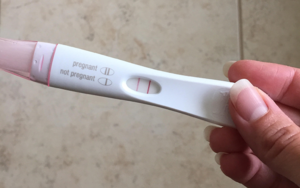 image of positive pregnancy test