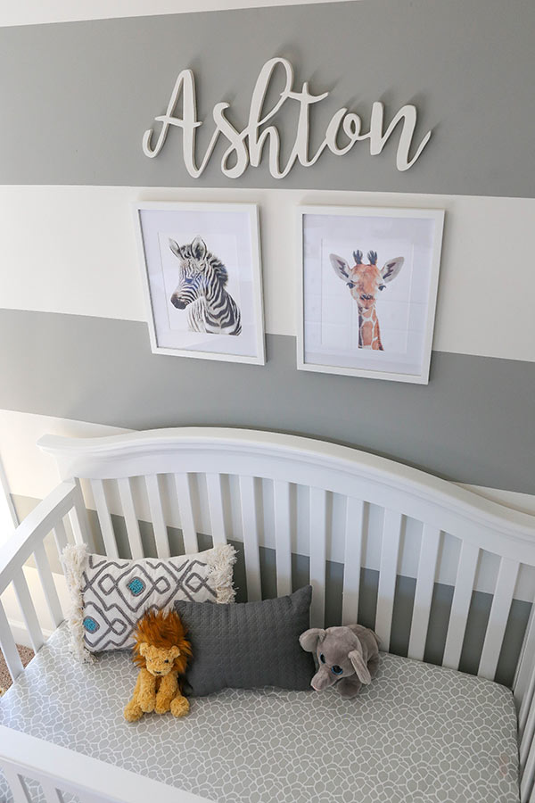 Safari Animal Twin Nursery - Life, Love and Sugar - Lifestyle