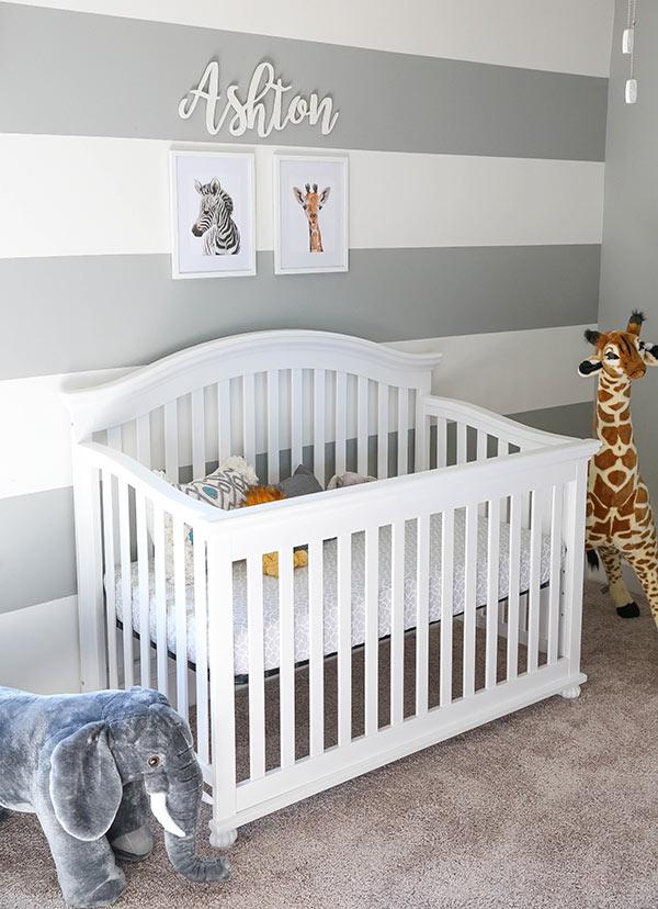 image of Ashton's crib in nursery