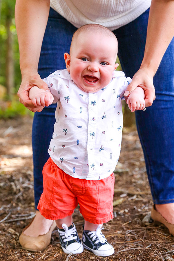 """image of Ashton standing"""" width=""""600"""" height=""""900"""" srcset=""""https://lifestyle.lifeloveandsugar.com/wp-content/uploads/2018/09/twin-7-months13.jpg 600w, https://lifestyle.lifeloveandsugar.com/wp-content/uploads/2018/09/twin-7-months13-200x300.jpg 200w"""" sizes=""""(max-width: 600px) 100vw, 600px"""" /><em>Ashton</em><span id=""""more-437""""></span></p><p>So I guess I'll pick up where <a href=""""https://www.lifeloveandsugar.com/2018/03/24/meet-the-twins/"""">I left off before</a>. I've been meaning to post more regular updates (and hope to in the future), but the amount of time I have these days is so little, it's been hard. I've sat down to write an update many times, only to have the boys wake up from a nap and never get a moment to sit down again. I feel pretty proud of myself if I've showered a couple times in one week. No joke. 🙂</p><p>Anyhow. I'm an over-sharer, so I apologize ahead for a long post. My hope in sharing <em>all the things</em> is that there's some shared experience here for someone and that in some way, sharing is fun or helpful for others.</p><p>So I'll start here and be completely honest – these babies haven't really been easy babies. We love them like crazy, but easy hadn't been our experience. Don't let the cute 7 month old smiles fool you. 😉</p> <img class=""""aligncenter size-full wp-image-448"""" src=""""https://lifestyle.lifeloveandsugar.com/wp-content/uploads/2018/09/twin-7-months4.jpg"""" alt=""""image of Ashton sitting on Lindsay"""
